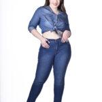 9199 Pantalón Plus con Ojalillo - azul - 42