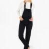 6031 Jardinero pantalón rígido recto - negro - 36