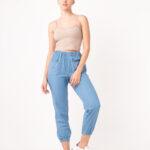 1272 Pantalon Jean Pijama - celeste - 36
