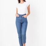 1267 Mom Rígido Jeans - azul - 36