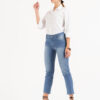 1301 Pant. Mom Relax Fit - celeste - 36