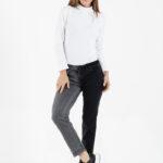 1284.1 Pantalón Parcial Color - gris-negro - 36