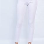 1216 Pant. Clásico chupín Desflecado - blanco - 36