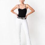 1084 Pantalón Oxford Blanco - blanco - 36