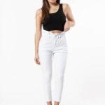 1266 Pantalón Baggy Blanco - blanco - 36